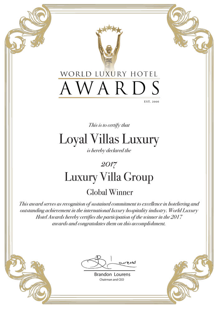 award winning-agency loyal villas luxury