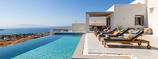Luxury Villa Sunrise in Paros